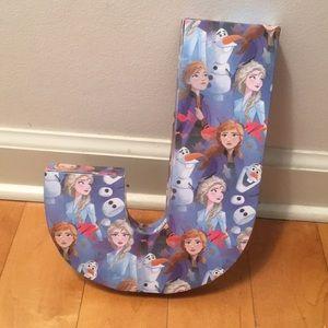 Disney Frozen 2 Letter J wall decal